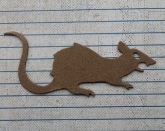 Chipboard Halloween Diecuts 4 Bare chipboard Rat Rodent Diecuts