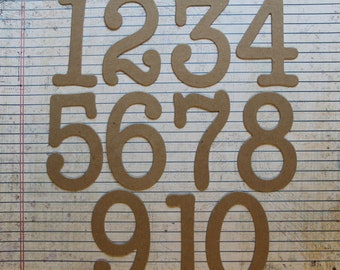 3 inch Table Numbers bare chipboard die cuts [choose quantity, plain or sticker back]