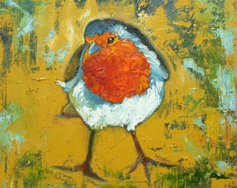 Bird 97 10x10 inch Print from oil painting by Roz