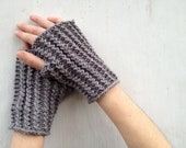 Travel Mitts - Hand knit fingerless mitts / handwarmers