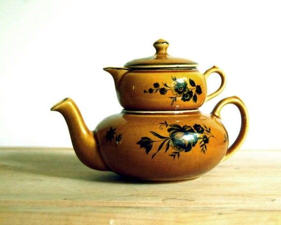 Vintage Stacking Teapot Elijah Cotton Lord Nelson Ware Staffordshire Stackable Tea Set Creamer