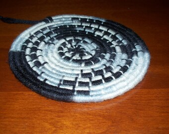 Opposites Attract Black and White Trivet