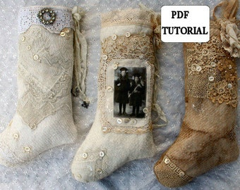 PDF Fine and Fanciful Holiday Stockings  Tutorial