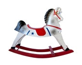 Vintage Toy ROCKING HORSE Happitime Hobby Horse by Sears Roebuck & Co