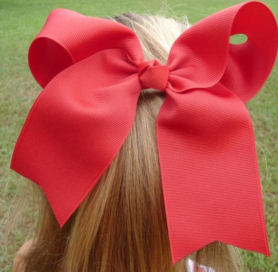 Special Order for Rachel Red Cheer Hair Bow - Full Hair Bow