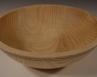 Ash Wood Bowl, turned wooden bowl number 5157