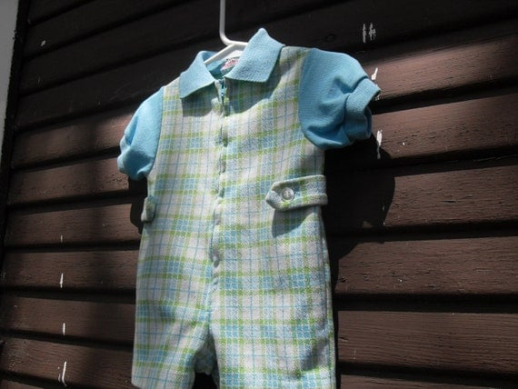 Vintage Health Tex Baby Boy Romper Size 12 Months Hold for Danae