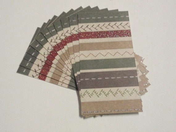 36 Tags - blank for thank you notes - Sewing Stripe