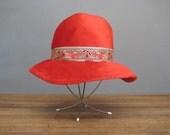1960's Hippie Chic Red Anne Marie Fur Hat