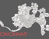 Cincinnati Neighborhood Print