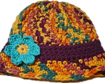Crochet baby hats, crochet sun hat, baby girl hat, Kids hats, Summer hats, Little girl sun hat, Newborn baby hats