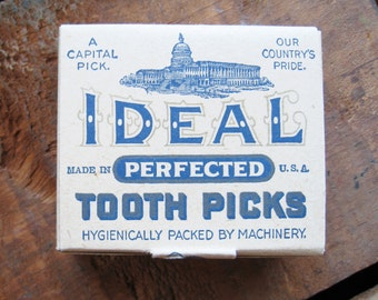 Vintage Ideal Tooth Picks Box