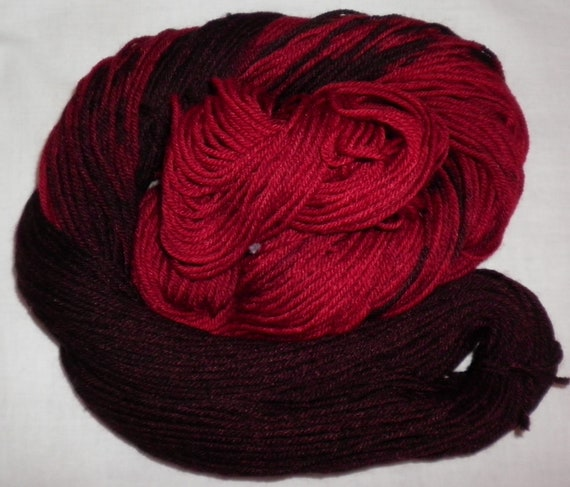 Handpainted - 100% Merino Wool Superwash Yarn - BRICK OVEN -