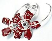 Beer or Soda Recycled Jewelry Bottle Cap Earrings