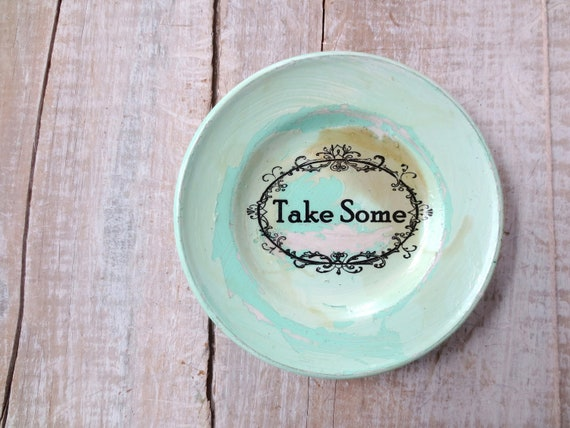 Vintage Kitchen Sign // Shabby Chic Kitchen Sign // Take Some // Dessert Table Sign // Farmhouse // Beach Cottage // WALL DECOR // AQUA
