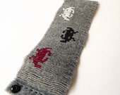 Space Invaders Wool Cuff