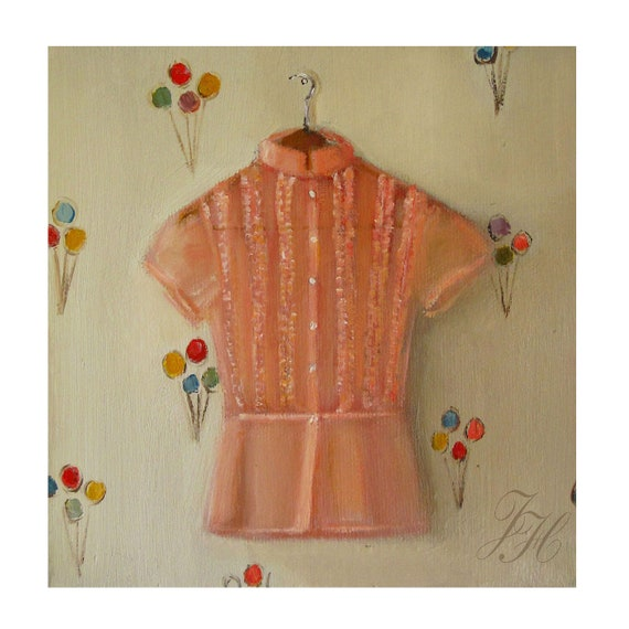 The Daphne Blouse- Canvas Reproduction Print