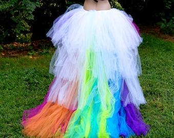 Rainbow Train Trashy Bustle Tulle Formal Skirt All Sizes MTCoffinz