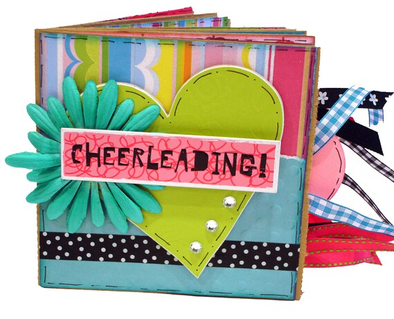 Cheerleading Premade Scrapbook - Paper Bag Cheer Album