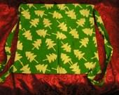Green Trees Batik Cinch Backpack