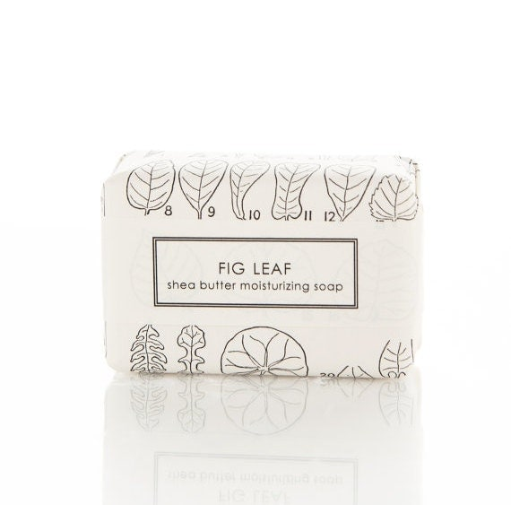 Fig Leaf Shea Butter Soap - red berries and fresh fig- large bar