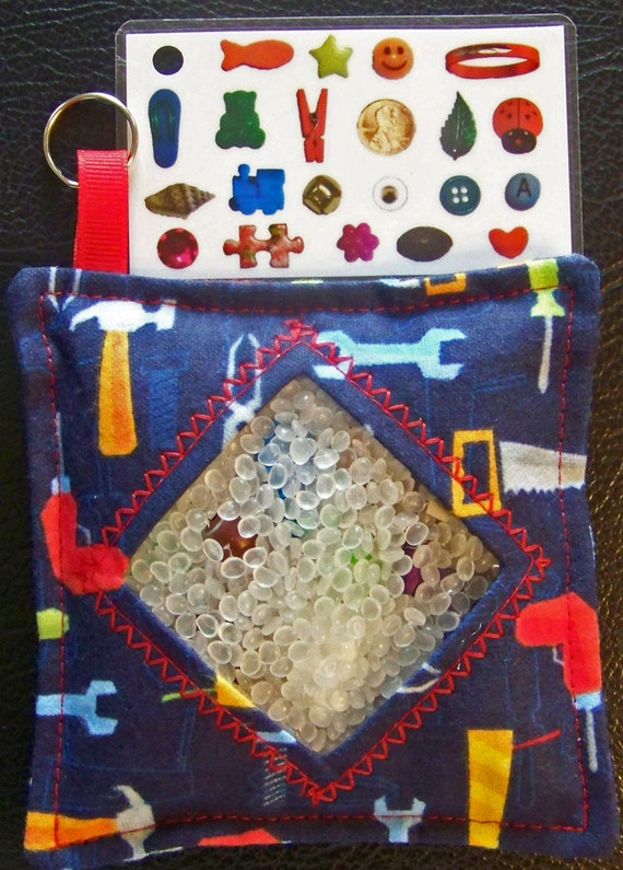 I Spy Bag - Mini with Sewn Word List and Detachable Picture/Word List- Tools