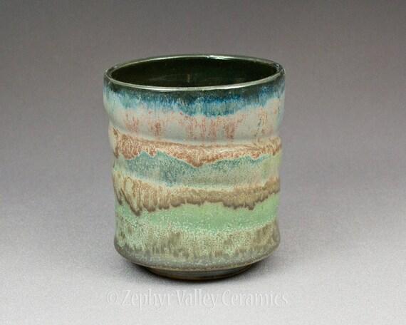Heavy Metal Ceramic Stoneware Tumbler Tea Bowl Wheel Thrown