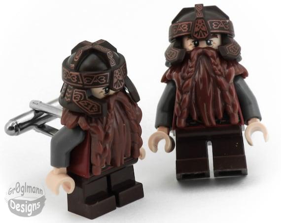 Gimli Lord of the Rings Cufflinks :) made with LEGO bricks