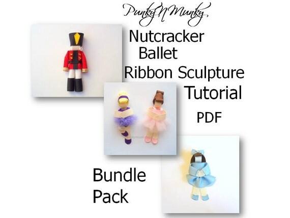 Nutcracker Clara Sugar Plum Fairy Ballet Ribbon Sculpture Tutorial Bundle Pack INSTANT DOWNLOAD