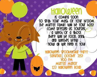 25 5x7 Halloween Costume Party Invitations