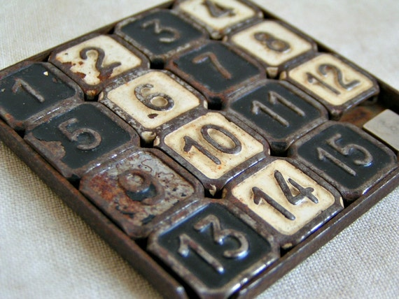 Enameled Metal Number Puzzle