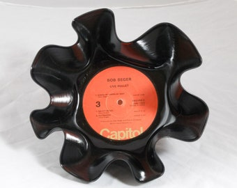 "Bob Seger ""Live Bullet"" Recycled Record Bowl"