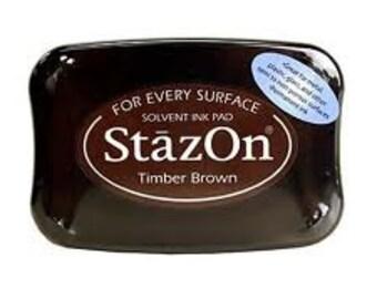 Brown StazOn Ink pad permanent stamp pad Timber Brown --9301