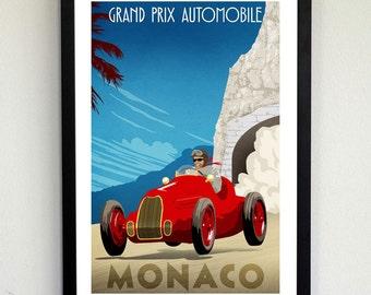 Monaco Grand Prix Poster
