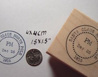 P27 Santa Claus North Pole rubber stamp