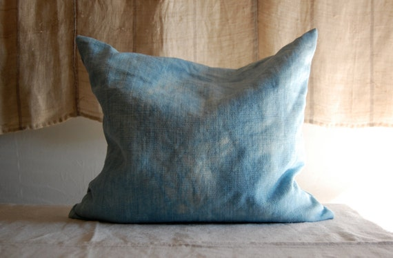 indigo hand dyed lavender pillow