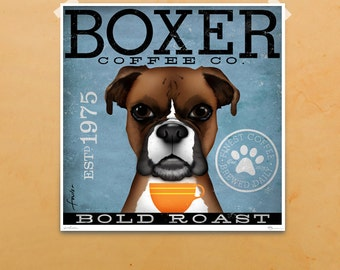 Boxer Coffee Company giclee archival signed artist's print by stephen fowler Pick A Size