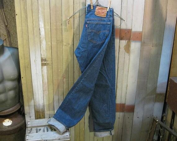 Levis 501xx Vintage dark Blue denim Jeans USA 33 36