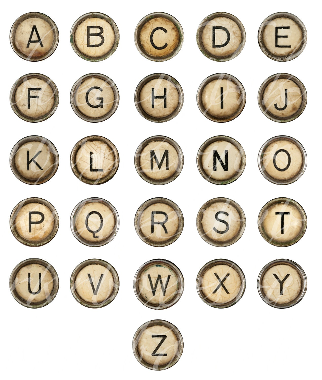 Alphabets Vintage Typewriter Alphabet Cards Printable