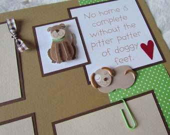 PUPPY LOVE 12x12 Premade Scrapbook Pages -- DoG