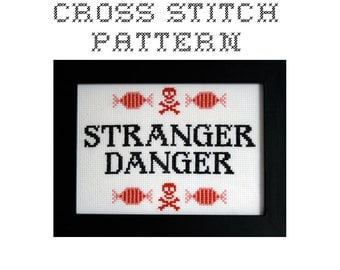 DIY Stranger Danger - .pdf Original Cross Stitch Pattern - Instant Download