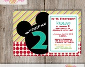 "Mickey Mouse ""Oh TWO dles"" Invitations......DIY Printable......or add a printing package"