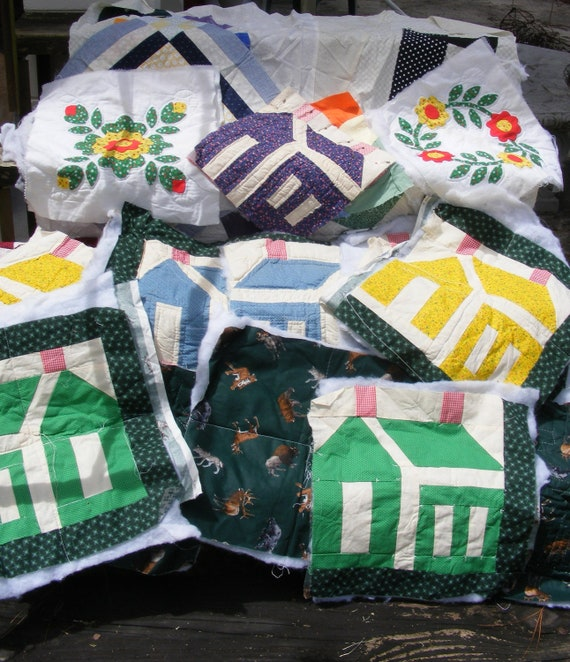 Lot of Quilt Pieces and Unfinished Quilt Projects