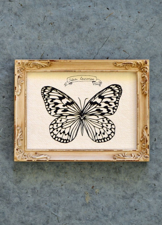 Sale 20% Off // TREE NYMPH BUTTERFLY Papercut - Hand-Cut Silhouette, Framed // Coupon Code SALE20