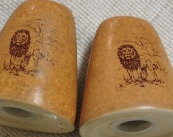 Brown Ceramic Salt and Pepper Shakers