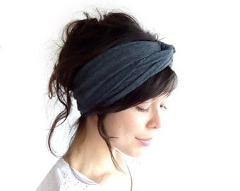 Turban Headband Dark Marl Grey or Light Marl Grey