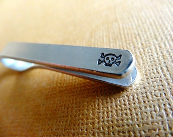 Skull and Crossbones Tie Bar - Custom Tie Clip