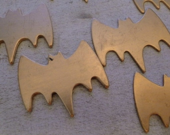 Big BAT - Copper Stamping Blanks - 18g - QUANTITY  10 - with HOLE punched - perfect for bracelets, enameling