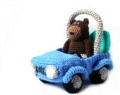 Amigurumi Pattern -Bear & Car- Crochet Bear Pattern