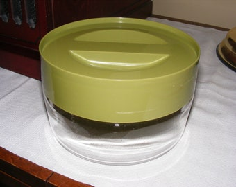 Avacado Green Pyrex Store N See Glass Canister